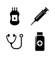 medical simple related icons vector image