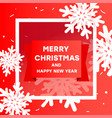 modern creative merry christmas and happy new vector image