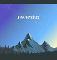 mountains amazing vector image vector image