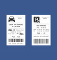 parking ticket money penalty receipt vector image vector image