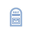 post box line icon concept post box flat vector image vector image