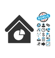 Realty Pie Chart Flat Icon with Bonus vector image vector image