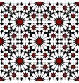red black moroccan motif tile pattern vector image vector image