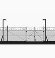 restricted area with chain fence on white vector image vector image