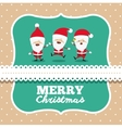 santa claus cute frame group character icon vector image vector image