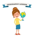 School geography lessons woman teacher vector image