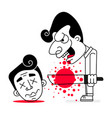 serial killer with cold weapons and blood vector image vector image
