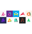 set of letter a logo vector image vector image