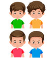 set of male character vector image vector image
