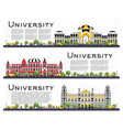 set of university campus study banners isolated vector image vector image