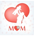 Silhouette of a mother and her child EPS 10 vector image