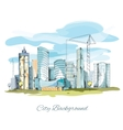 Sketch city background vector image vector image
