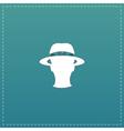 spy flat icon vector image