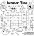 summer time black and white crossword game vector image