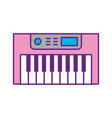 synth console isolated icon vector image vector image