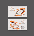 template for business card stroke brush with vector image