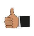 thumb up hand symbol vector image