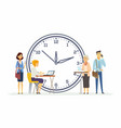time management for business - modern cartoon vector image vector image