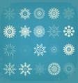 vintage christmas snowflakes set vector image