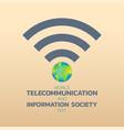 world telecommunication day logo icon design vector image vector image