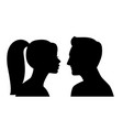 young male female profiles vector image