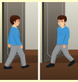 young man walking vector image