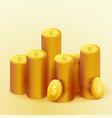realistic golden coins money fortune casino cash vector image