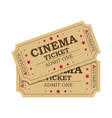 retro cinema tickets vector image