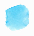 Bright blue watercolor spot vector image