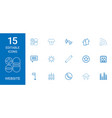 15 website icons vector image vector image