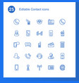 25 contact icons vector image vector image