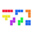abstract old video game bricks pieces isolated on vector image vector image