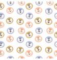 adorable animal head seamless pattern vector image vector image