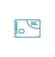 application label linear icon concept application vector image vector image