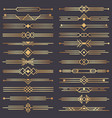 art deco divider gold retro arts border 1920s vector image
