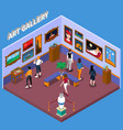 art gallery isometric vector image vector image