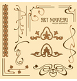 art nouveau elements vector image
