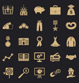beneficence icons set simple style vector image vector image