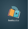 books online creative symbol idea vector image vector image