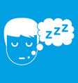 boy head with speech bubble icon white vector image