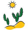 cactus in desert vector image vector image