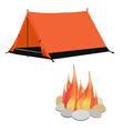Camping gear vector image