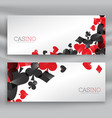 casino banners with playing cards symbols vector image vector image