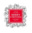 Christmas holiday frame with gift boxes and bow vector image vector image