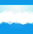 clouds blue background vector image