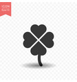 clover leaf icon simple flat style vector image vector image