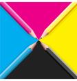cmyk pencils vector image vector image
