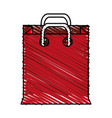 color crayon stripe cartoon red bag for shopping vector image vector image