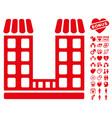 company icon with love bonus vector image