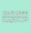corporate law word concepts banner vector image
